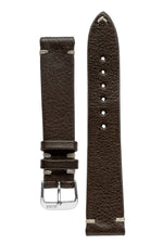 Rios1931 INZELL Retro Organic Leather Watch Strap in MOCHA