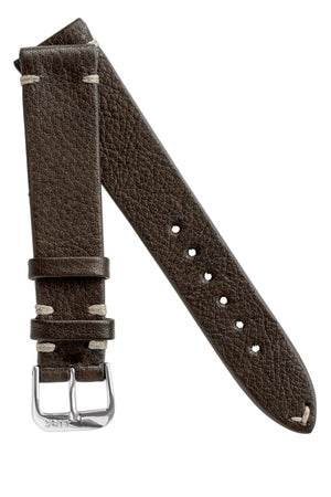 Load image into Gallery viewer, Rios1931 INZELL Retro Organic Leather Watch Strap in MOCHA