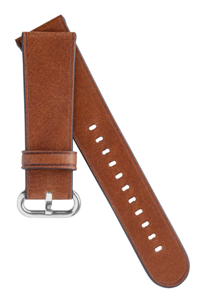 Rios1931 LIFE Genuine Vintage Leather Watch Strap for 42 / 44mm Apple Watch in COGNAC