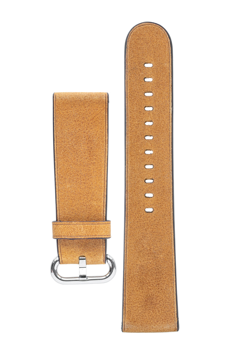Rios1931 LIFE Genuine Vintage Leather Watch Strap for 42 / 44mm Apple Watch in HONEY