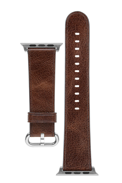 Rios1931 LIFE Genuine Vintage Leather Watch Strap for 42 / 44mm Apple Watch in MAHOGANY