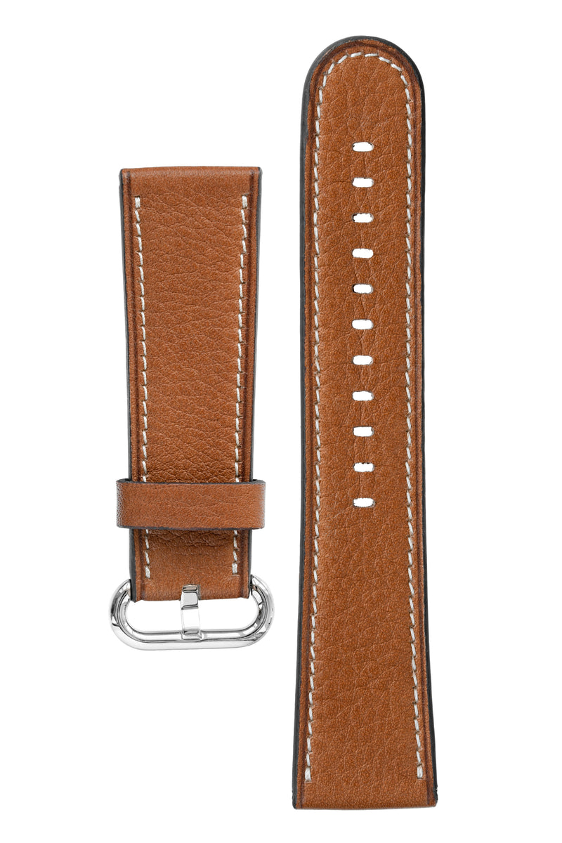 Rios1931 MESSENGER Organic Leather Watch Strap for 42 / 44mm Apple Watch in COGNAC