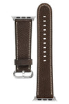 Rios1931 MESSENGER Organic Leather Watch Strap for 42 / 44mm Apple Watch in MOCHA