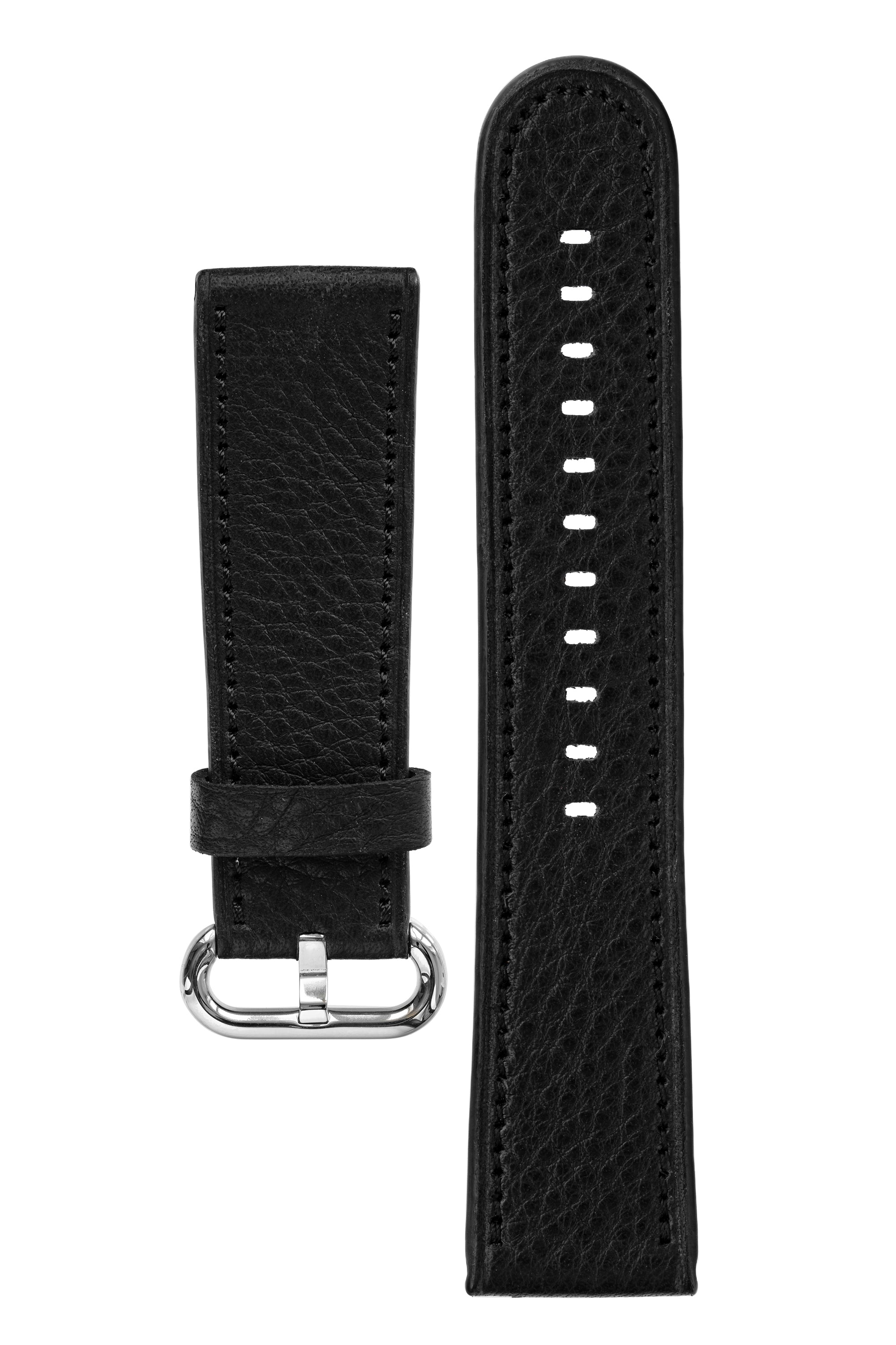 Rios1931 ONLINE Organic Leather Watch Strap for 42 / 44mm Apple Watch in BLACK