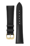 Rios1931 SUNSET Water Resistant Cow Leather Watch Strap in BLACK