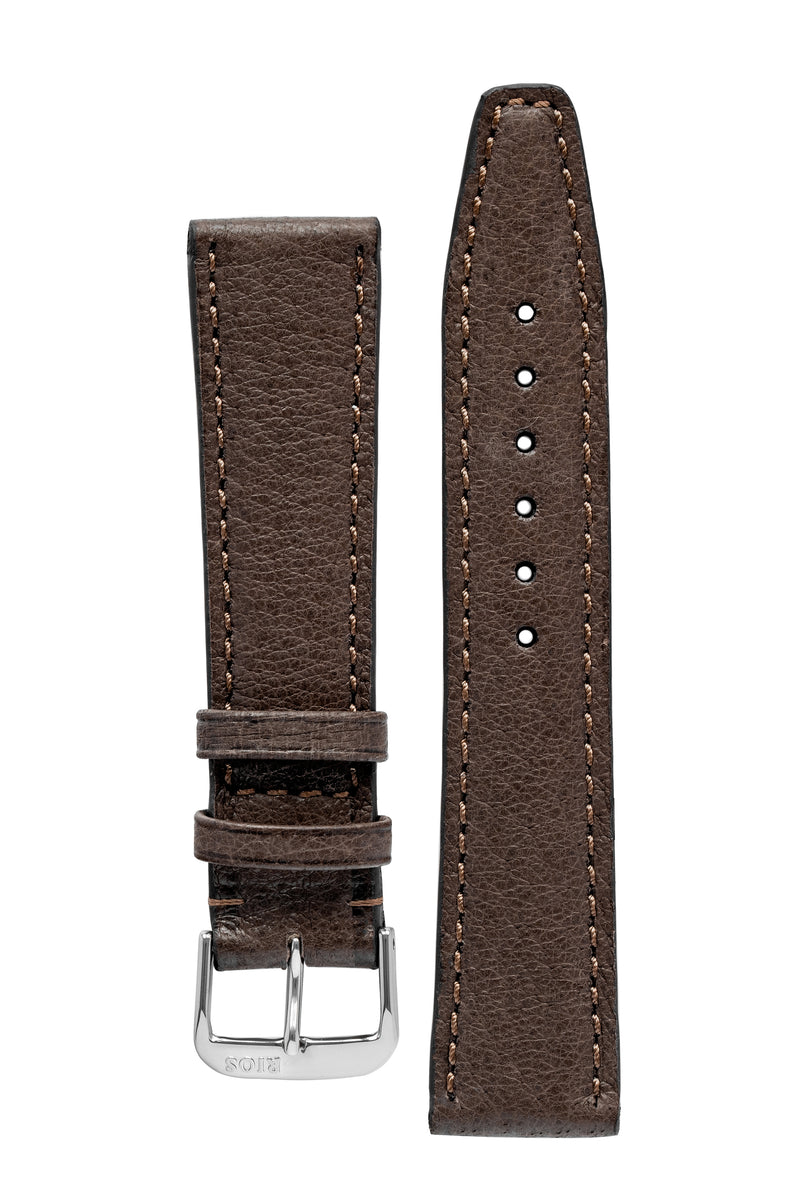 Rios1931 TOBACCO Genuine Pigskin Leather Watch Strap in MOCHA