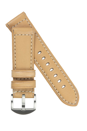 Rios1931 FIRENZE Genuine Russia Leather Watch Strap in SAND