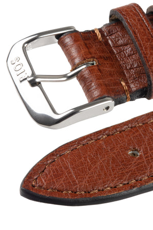 Rios1931 MAISON Genuine Ostrich Leather Watch Strap in MAHOGANY