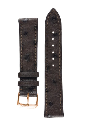 Rios1931 MAISON Genuine Ostrich Leather Watch Strap in MOCHA