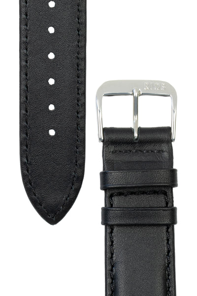 Rios1931 OFF SHORE Hydrophobic Leather Watch Strap in BLACK