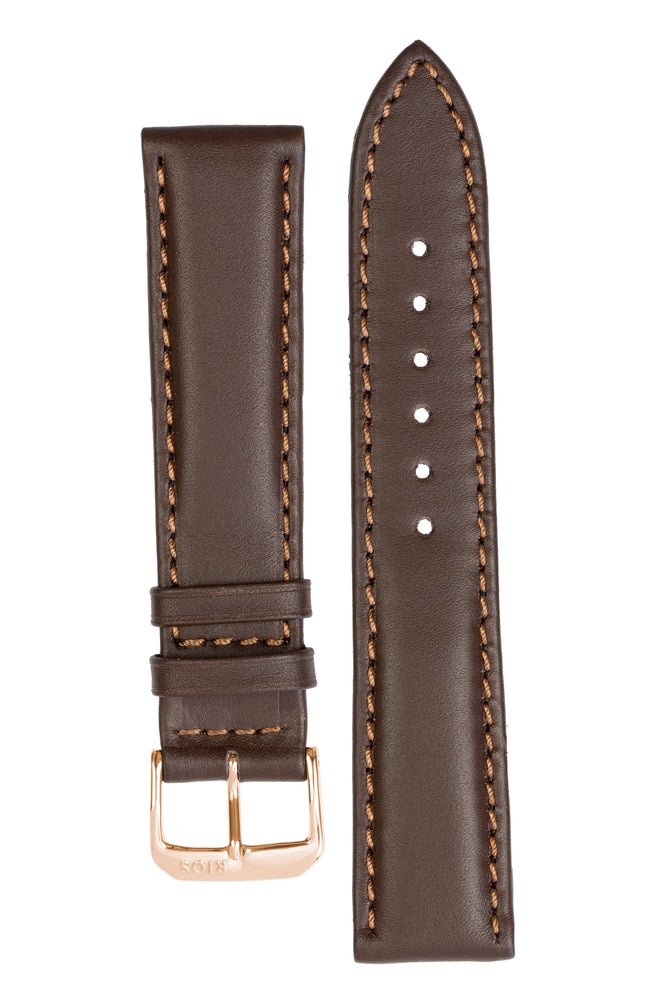 Load image into Gallery viewer, Rios1931 OFF SHORE Hydrophobic Leather Watch Strap in MOCHA