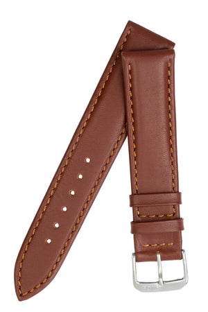 Rios1931 OFF SHORE Hydrophobic Leather Watch Strap in MAHOGANY