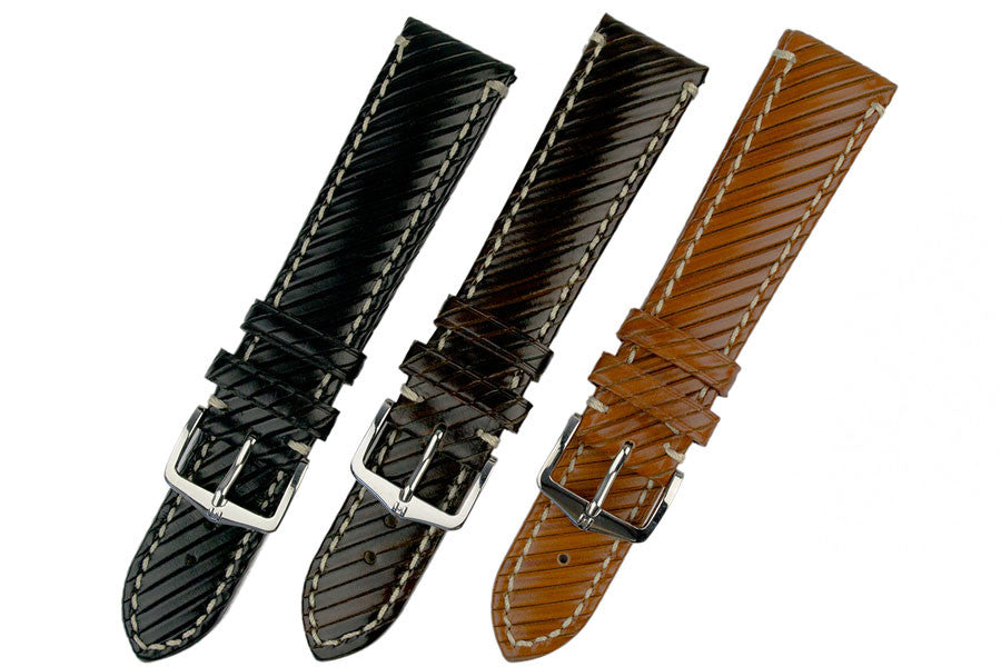 Hirsch Rivetta range of colours, Black, Brown and Gold Brown
