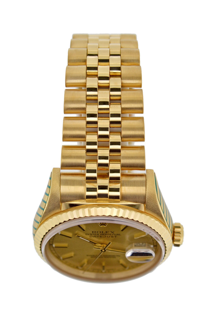 ROLEX Oyster DateJust 18K Gold Automatic Watch