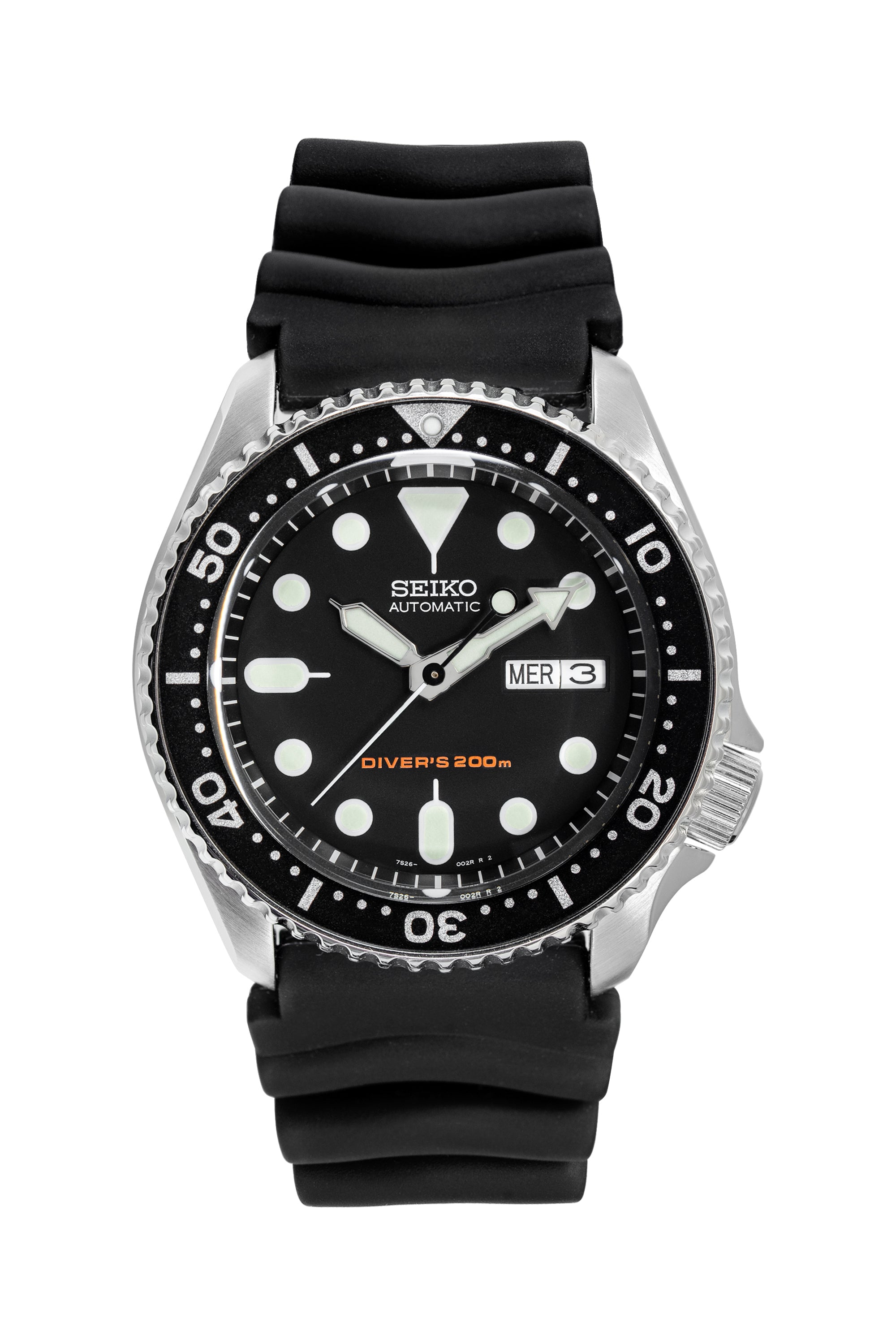 SEIKO SKX Series Automatic Men's 42mm Diver Watch - SKX007K1 – Black Dial