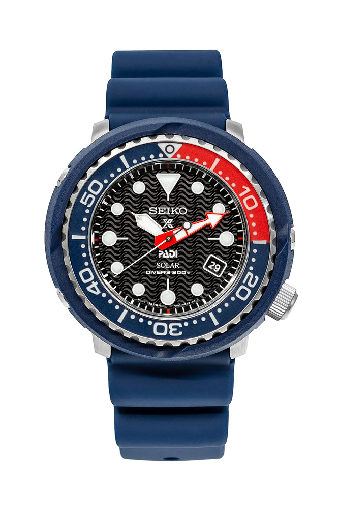 Load image into Gallery viewer, SEIKO Prospex PADI Solar Men's Diver Watch - SNE499P1 – Blue Case with Black Dial