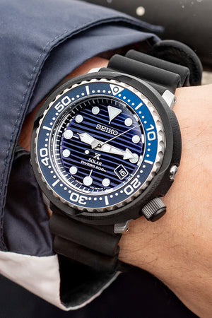 SEIKO Prospex PADI Solar Men's Diver Watch - SNE518P1 – Black Case with Blue Dial