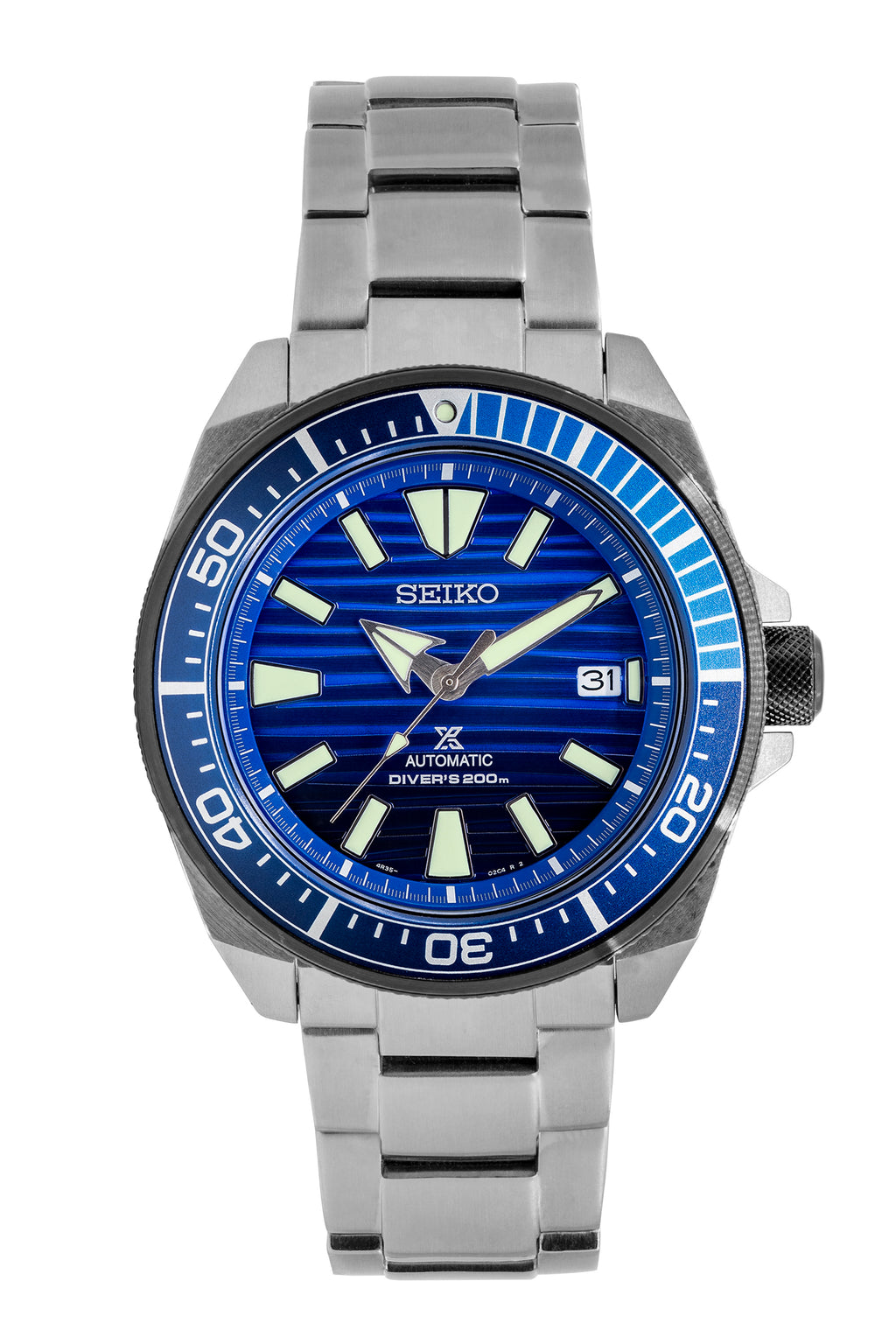 SEIKO Prospex Samurai 'Save The Ocean' Automatic Men's Diver Watch - SRPC93K1 - Blue Dial