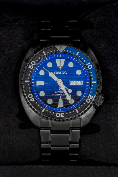 SEIKO Prospex Turtle 'Save The Ocean' Automatic Men's 45mm Diver Watch - SRPD11K1 - Black with Blue Dial