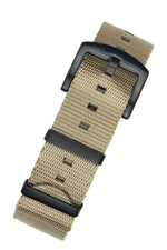 Seatbelt NATO Nylon Watch Strap in OATMEAL with BLACK PVD Hardware