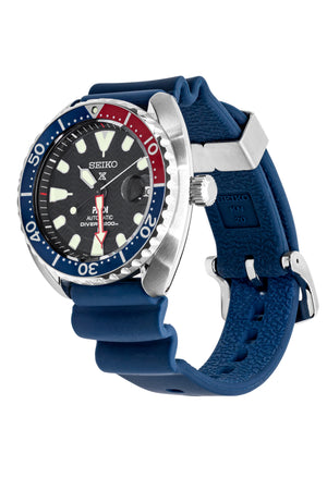 SEIKO Prospex Sea PADI Mini Turtle Automatic Men's Diver Watch - SRPC41K1 – Black Dial & Blue Silicone Strap