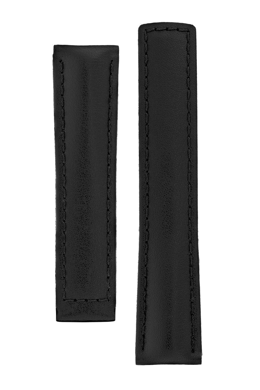 Hirsch SPEED Calfskin Deployment Watch Strap in BLACK