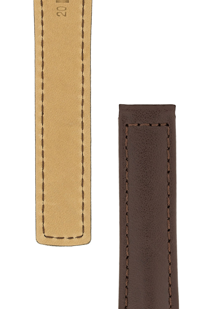 Hirsch SPEED Calfskin Deployment Watch Strap in BROWN