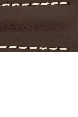 Hirsch SPEED Calfskin Deployment Watch Strap in BROWN/WHITE