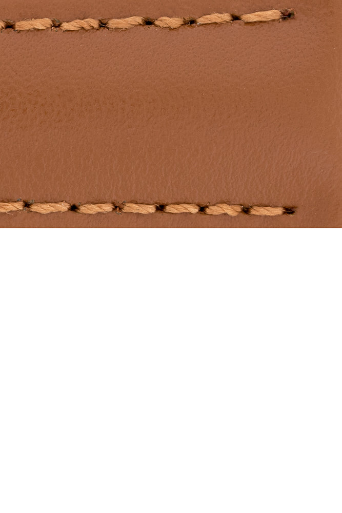 Load image into Gallery viewer, Hirsch Speed Calfskin Deployment Watch Strap in Gold Brown (Close-Up Texture Detail)
