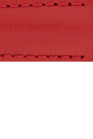 Hirsch SPEED Calfskin Deployment Watch Strap in RED