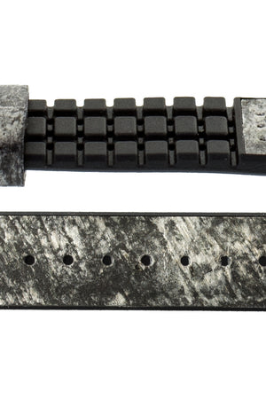 Hirsch Stone Split Shale Rock Effect Performance Watch Strap in Grey with Black Rubber Underside (Layer Detail)