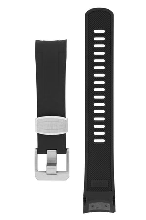 Crafter Blue Rubber Watch Strap for Tudor Black Bay Series in Black