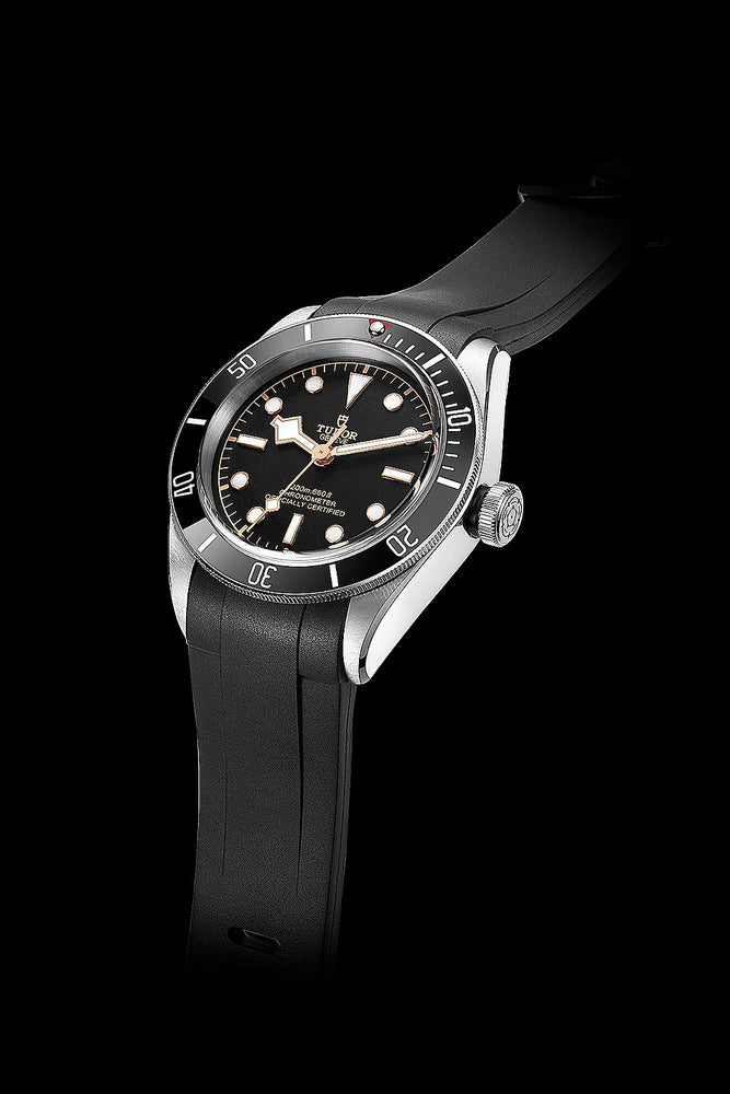 Crafter Blue Rubber Watch Strap for Tudor Black Bay Series in Black (Promo Photo)