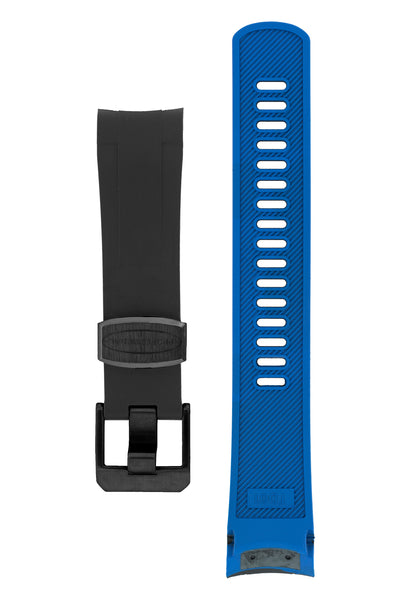CRAFTER BLUE Rubber Watch Strap for Tudor Black Bay Series – BLACK & BLUE