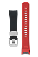 CRAFTER BLUE TD01 Rubber Watch Strap for Tudor Black Bay Series – BLACK & RED