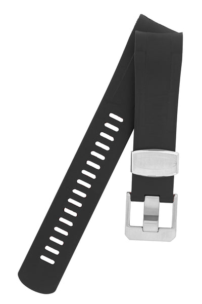 CRAFTER BLUE Rubber Watch Strap for Tudor Black Bay Series – BLACK & RED