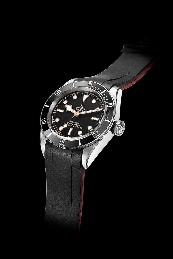 Crafter Blue Rubber Watch Strap for Tudor Black Bay Series in Black & Red (Promo Photo)