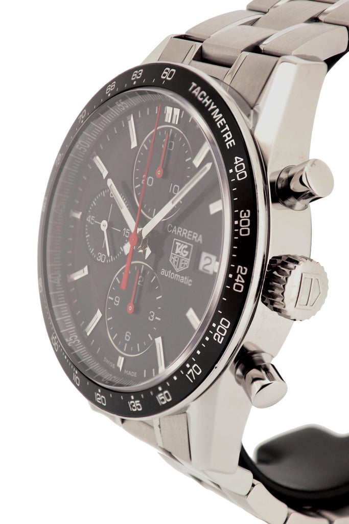TAG HEUER Carrera Automatic Chronograph Watch - Black Dial