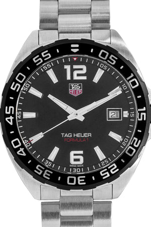 TAG HEUER Formula 1 Quartz Watch 41mm – Black Dial & Steel Bracelet