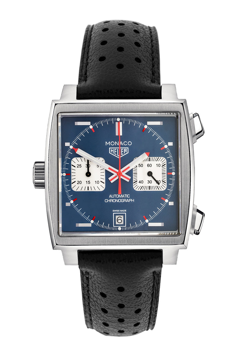 TAG HEUER CAW211P.FC6356 Monaco Automatic Chronograph with Blue Dial