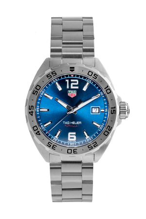TAG HEUER WAZ1118.BA0875 Formula 1 Quartz Watch 41mm – Blue Dial & Steel Bezel