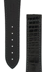 Hirsch VOYAGER Alligator Deployment Watch Strap in BLACK/BLACK