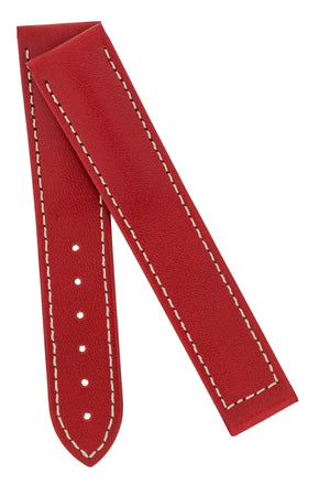 Load image into Gallery viewer, Hirsch VOYAGER Calfskin Deployment Watch Strap in RED/WHITE