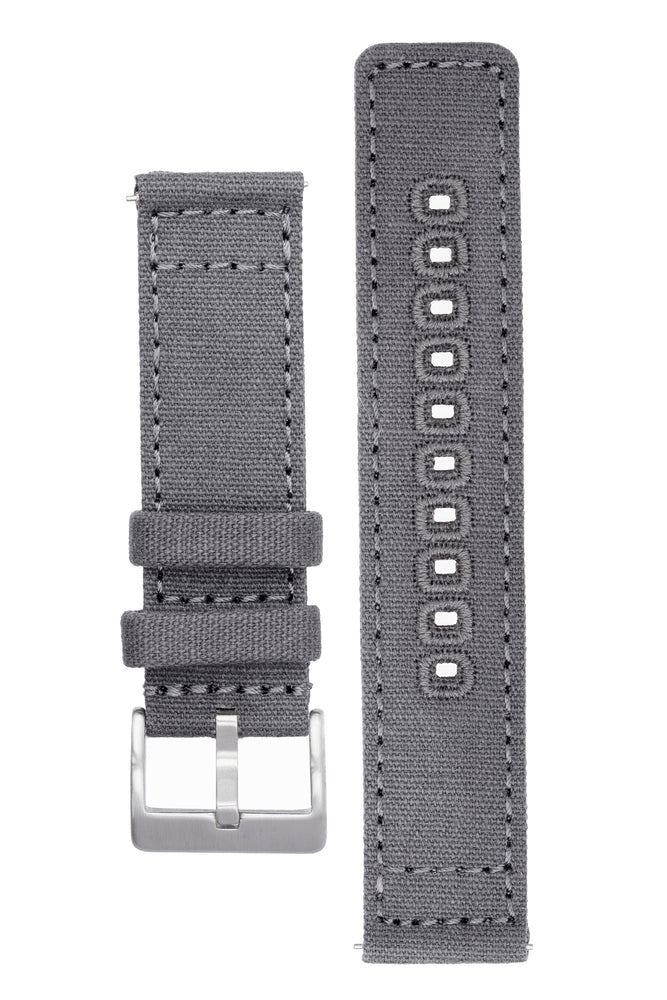 Quick-Release Canvas Watch Strap in GREY