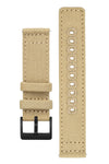 Quick-Release Canvas Watch Strap in KHAKI