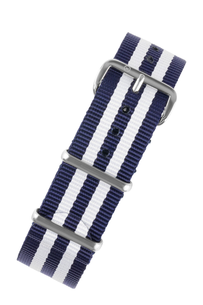 NATO Watch Strap in BLUE with WHITE Stripes