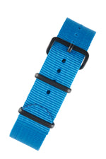 NATO Watch Strap in CAPRI BLUE with Black PVD Buckle and Keepers