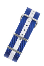 NATO Watch Strap in ROYAL BLUE with WHITE Stripe