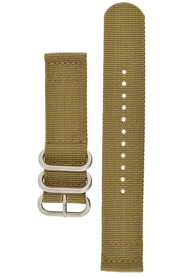 ZULU Nylon 2 Piece Watch Strap in BROWN