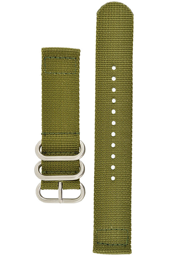 ZULU Nylon 2-Piece Watch Strap in GREEN